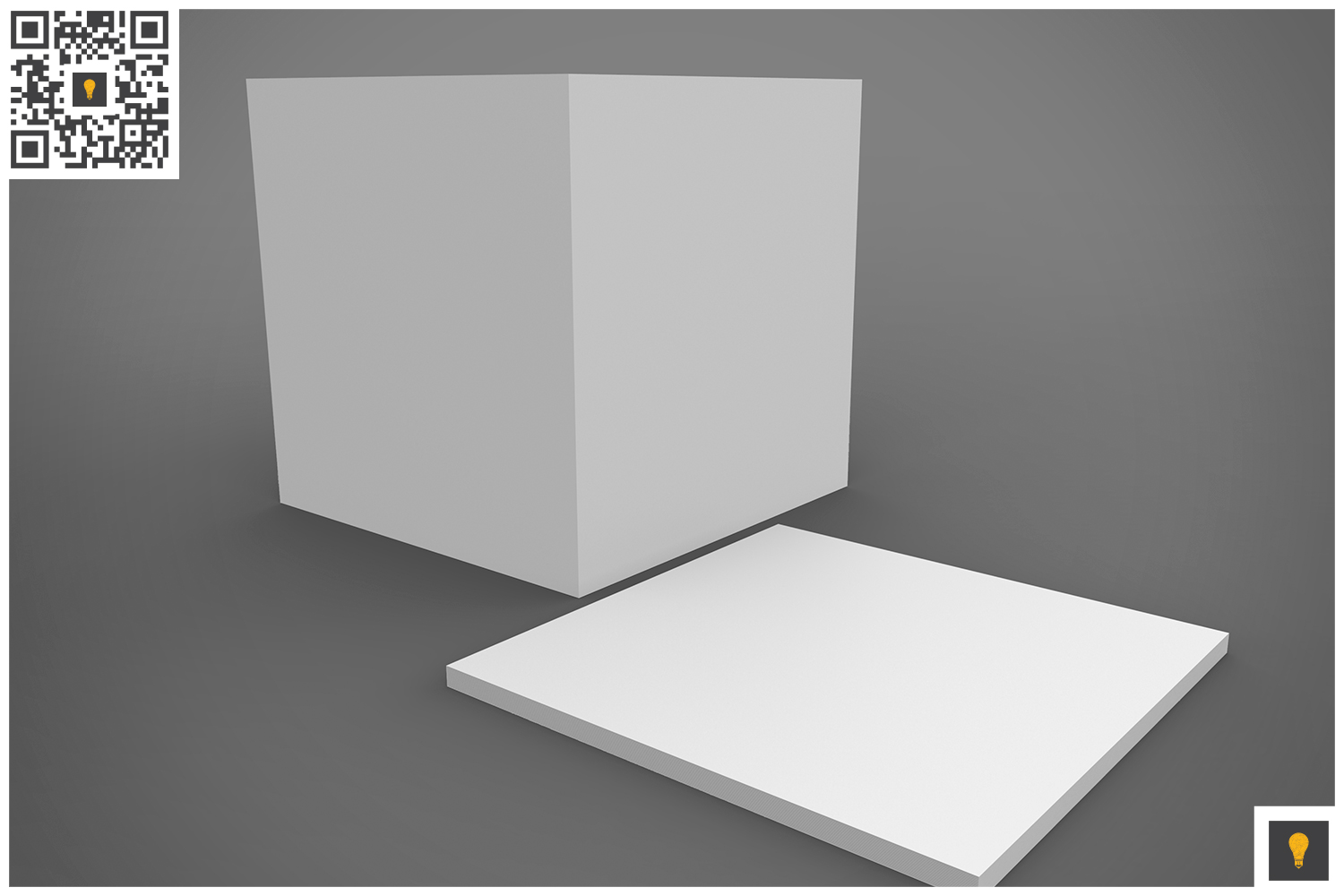 Notepad Holder & Notes 3D Render example image 5