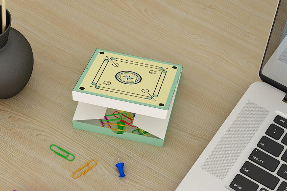 DIY Carron favor - 3d papercraft example image 1