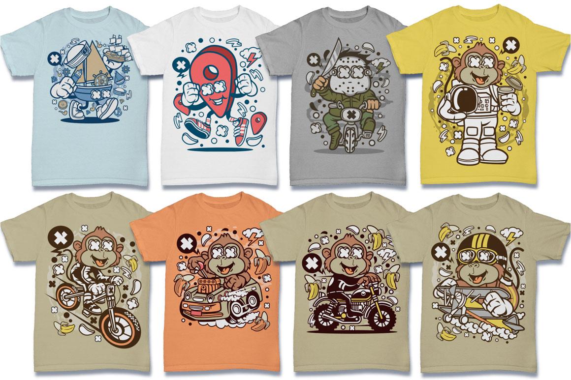 Cartoon Vector #6 Tshirt Design Bundle example image 15