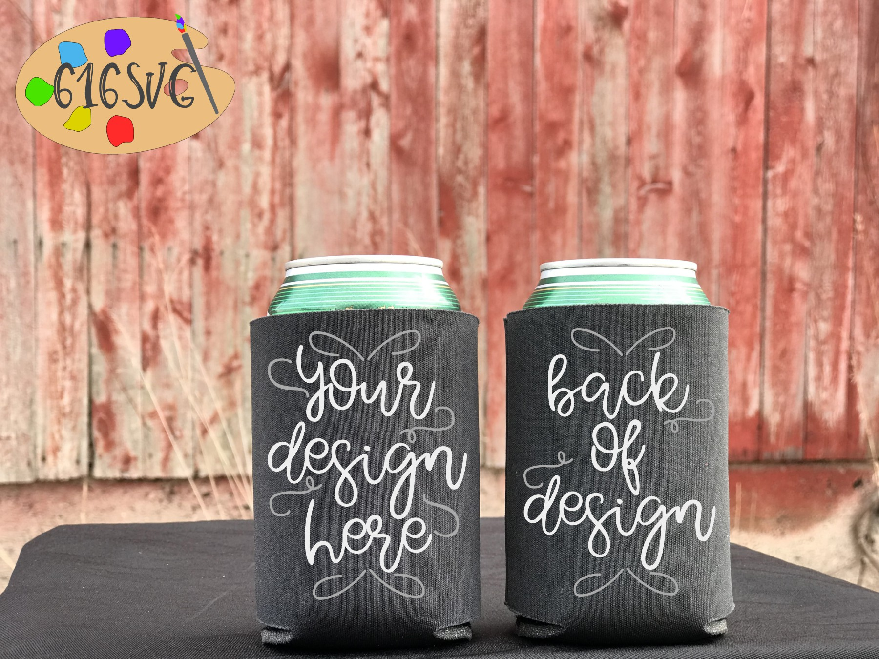 Can Cooler Mockup Bundle 33 Color Choices example image 8