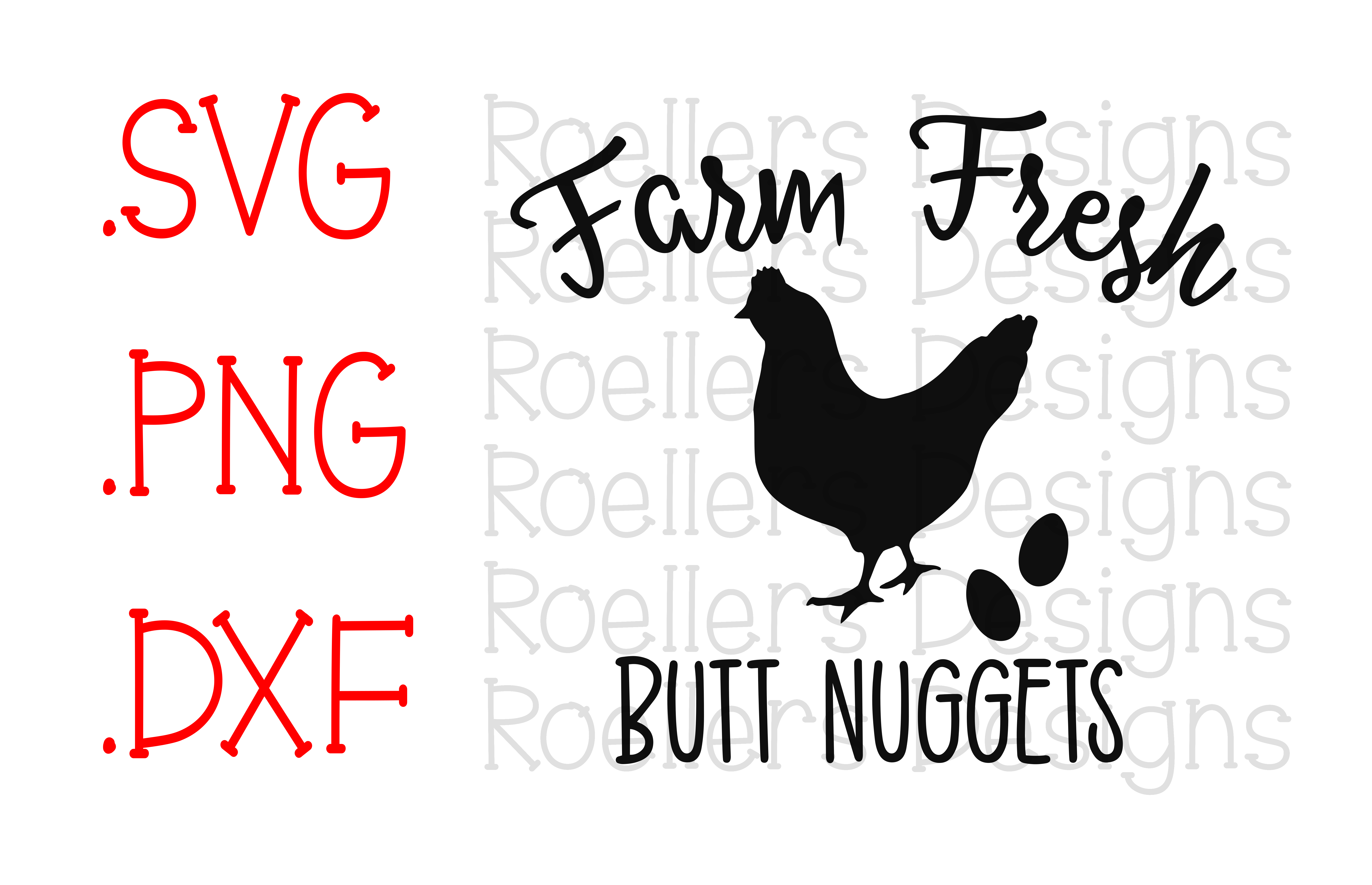 Chicken Printable Quotes: Farm Fresh Butt Nuggets Svg, Cricut, Silhouette