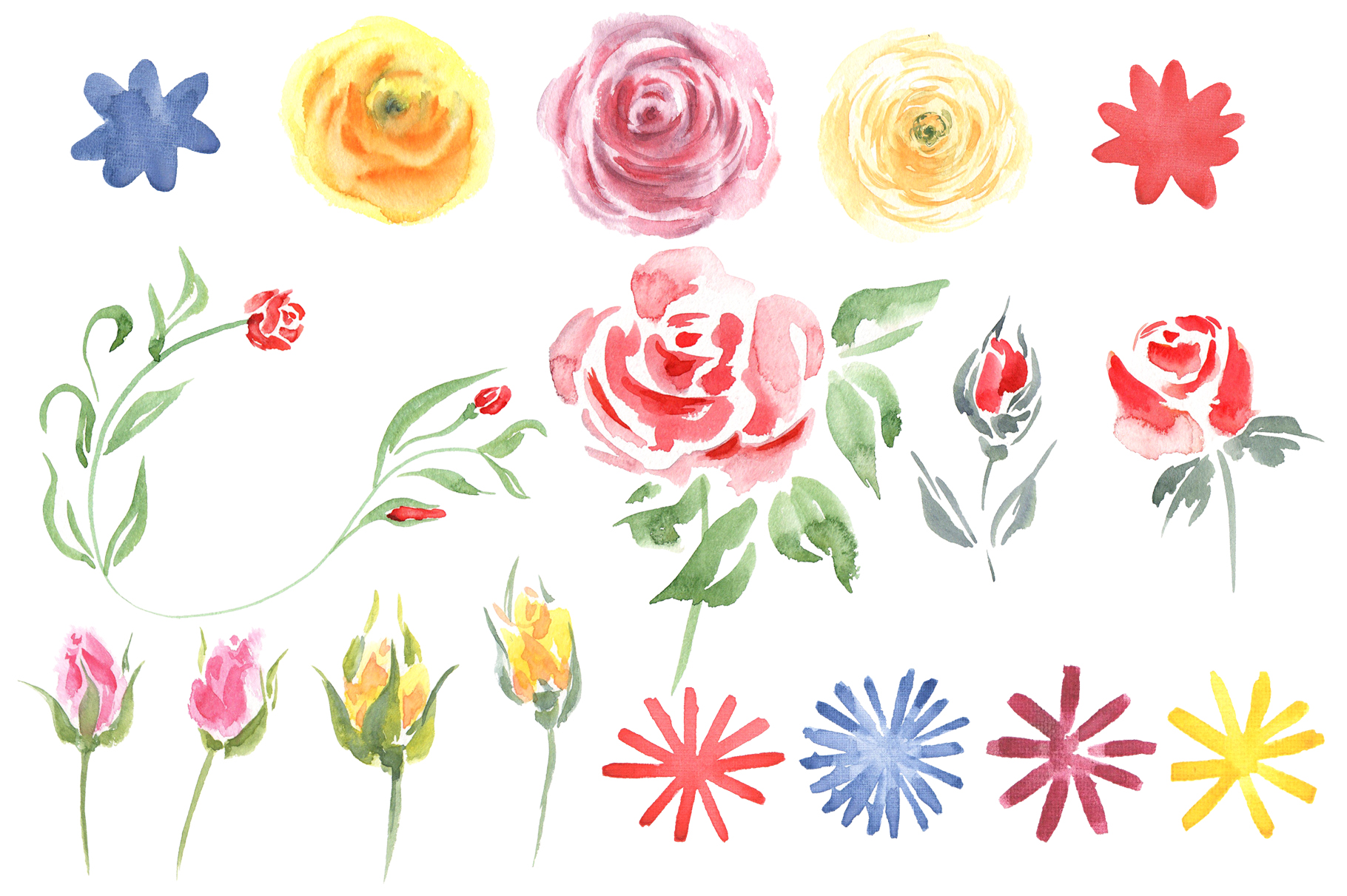 Queen of Flowers watercolor collection example image 4