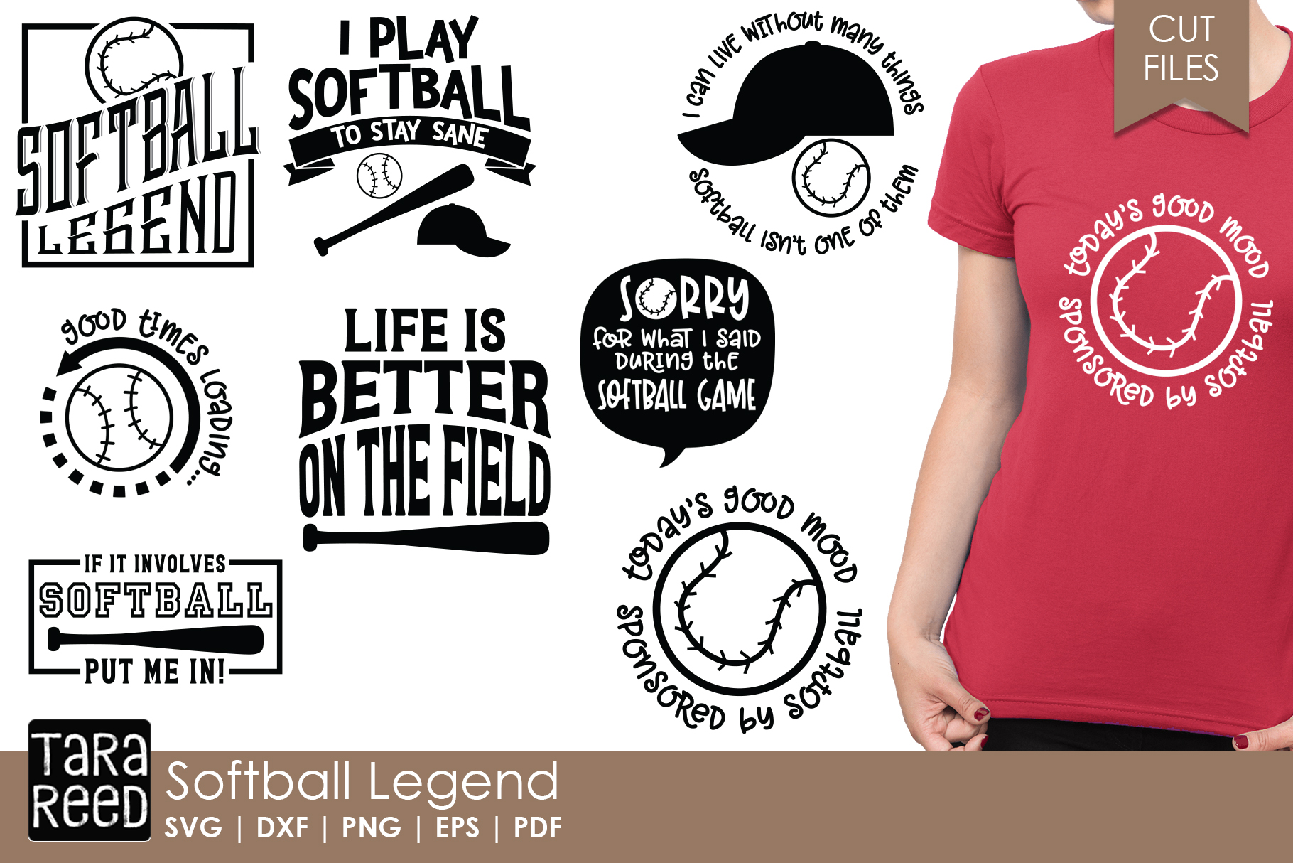 Softball Legend - Softball SVG and Cut Files for Crafters example image 1