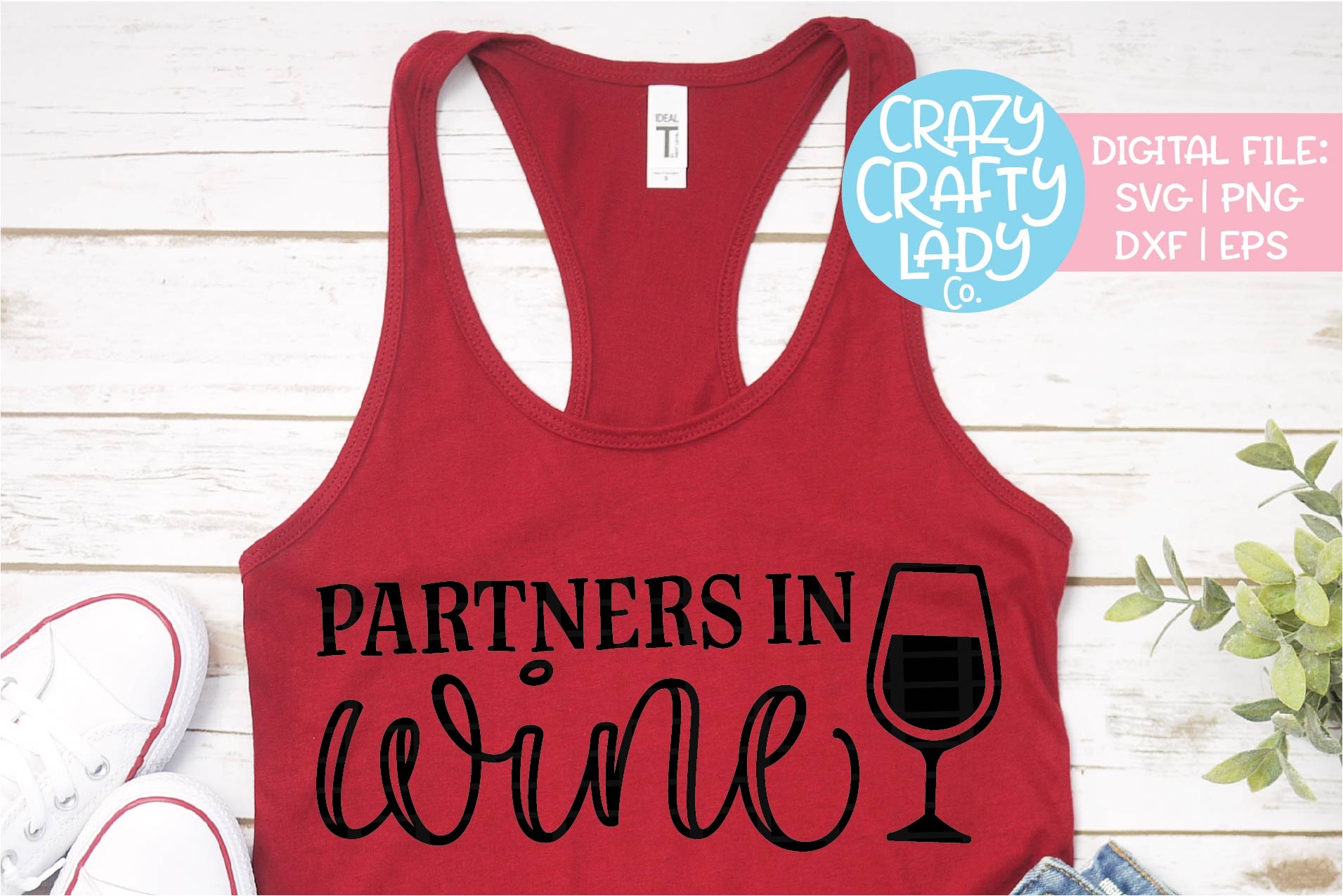 Partners in Wine Wedding SVG DXF EPS PNG Cut File example image 1