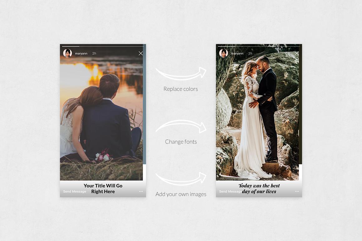 Wedding Instagram Stories example image 5
