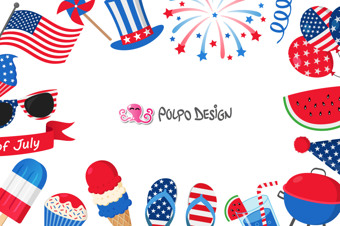 4th of July clip art example image 2