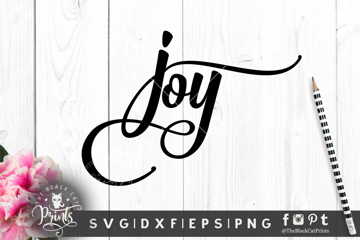 Joy SVG PNG EPS DXF example image 1