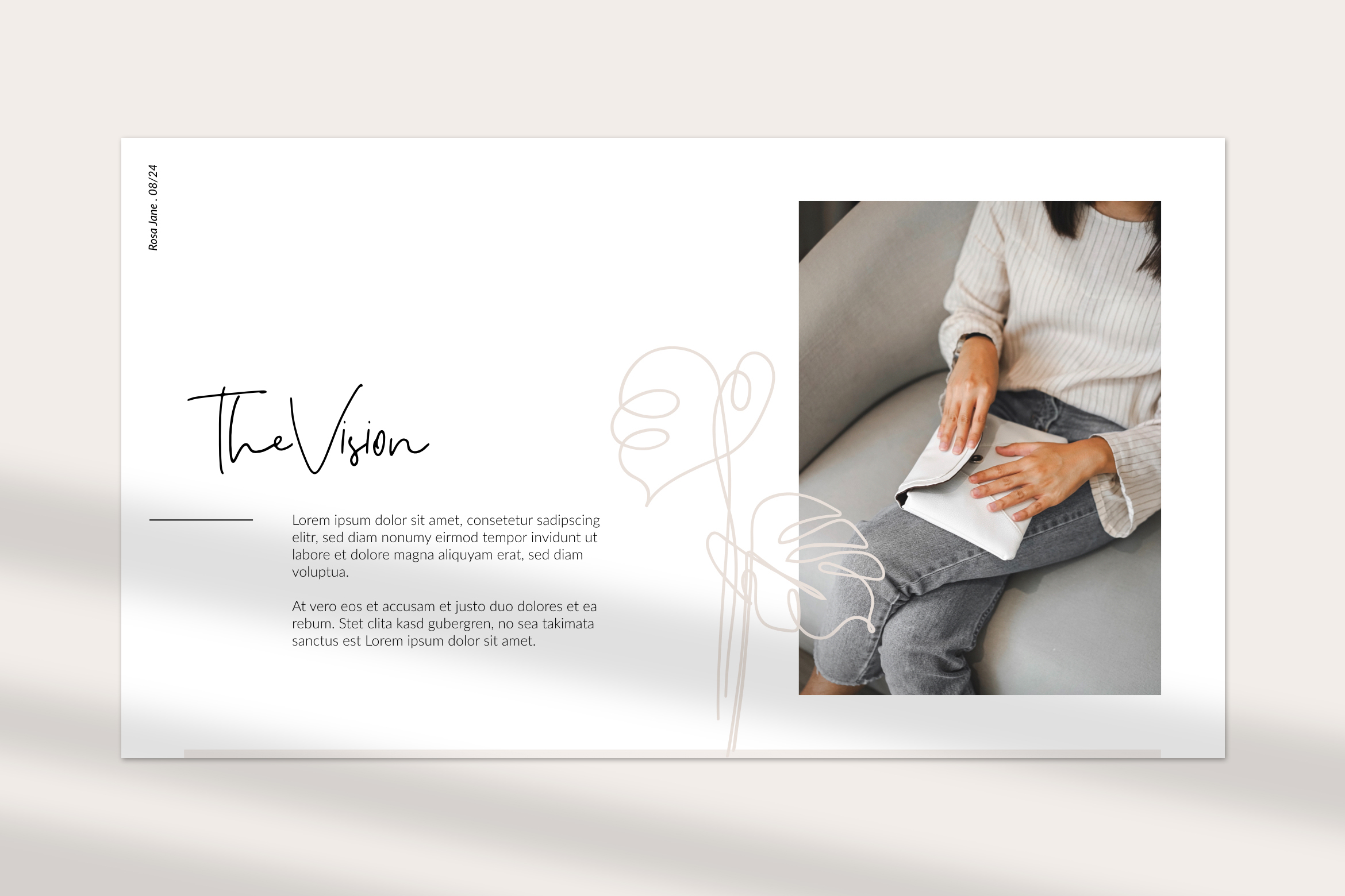 Rosa Jane Keynote Template example image 2