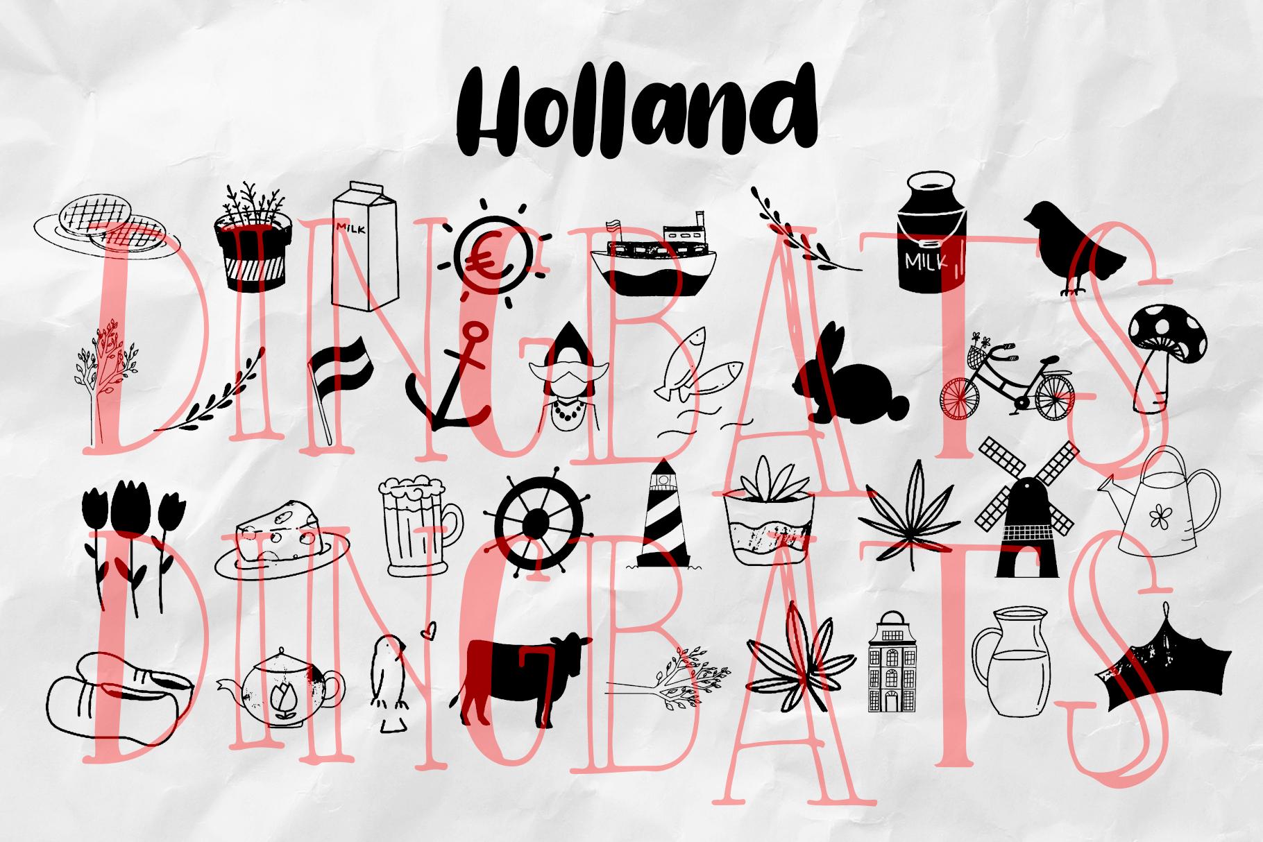 Holland Dingbats Font - Plus EXTRA example image 5