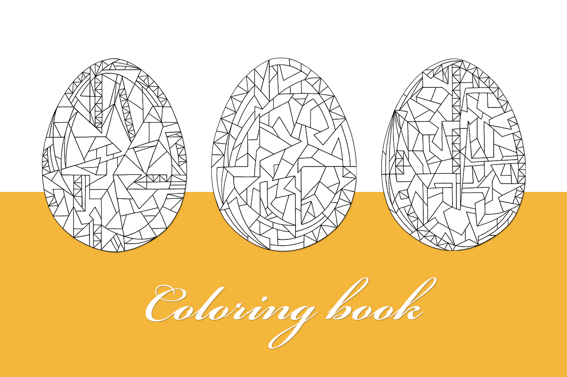 Easter eggs vector set example image 3