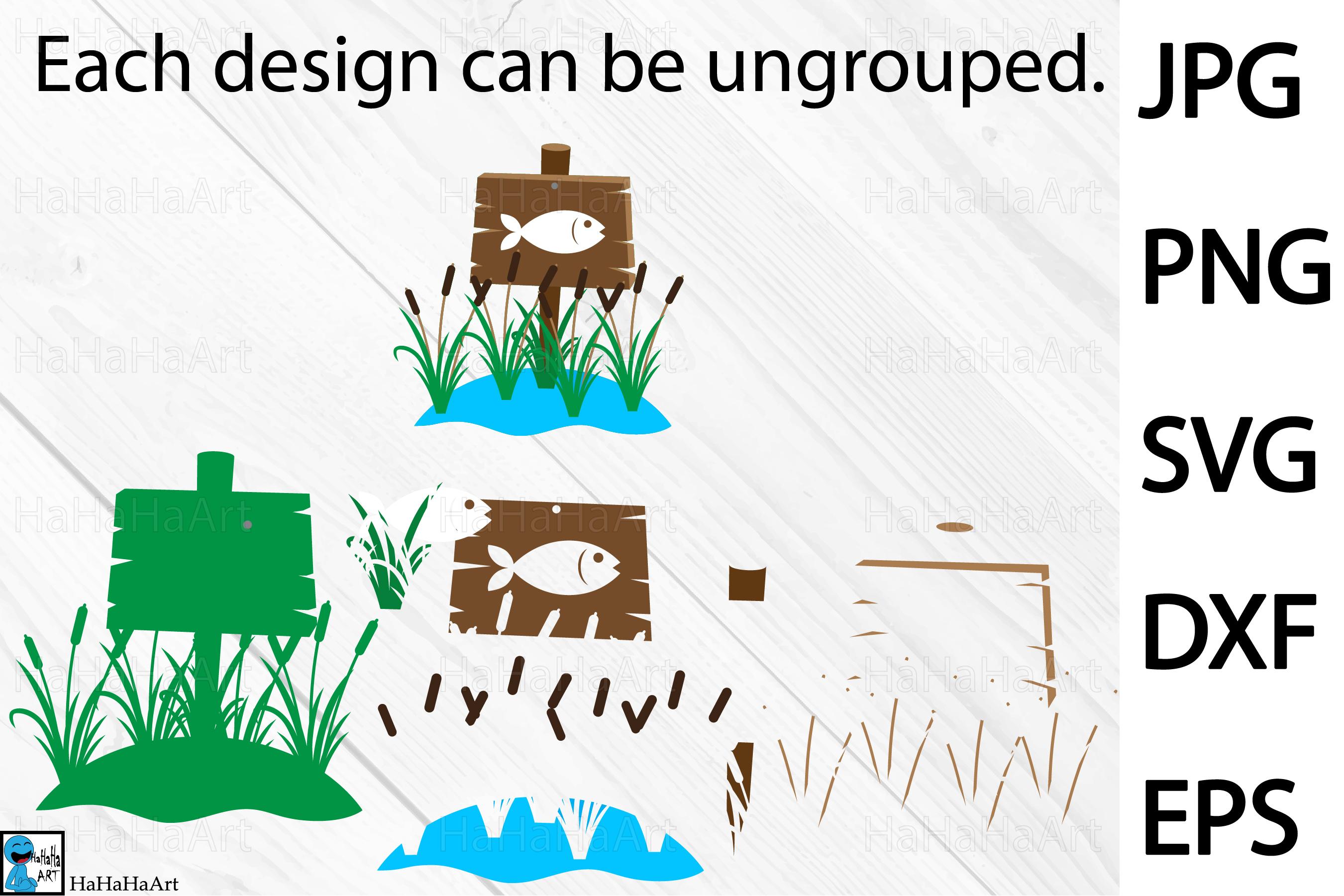 Fishing Designs - Clip art / Cutting Files 101c example image 3