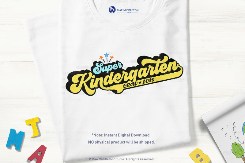 Super Kindergarten Grad with years example image 3