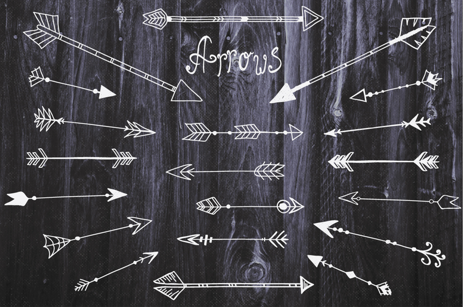 Feathers and arrows Clipart Set example image 2