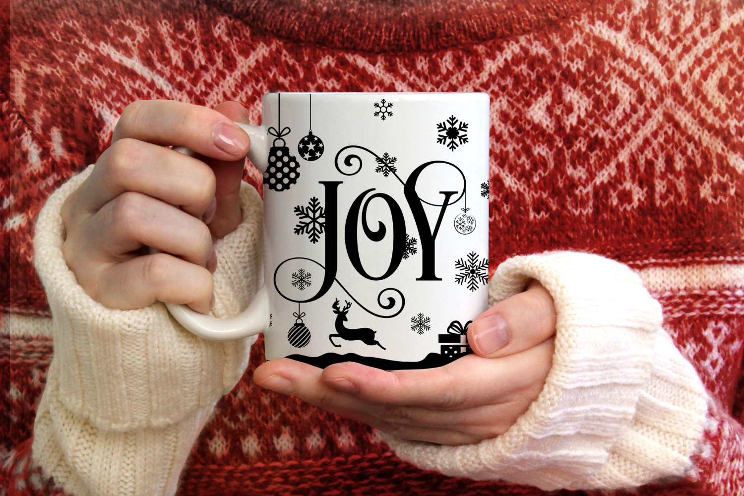 Joy - Christmas SVG Cut File example image 2
