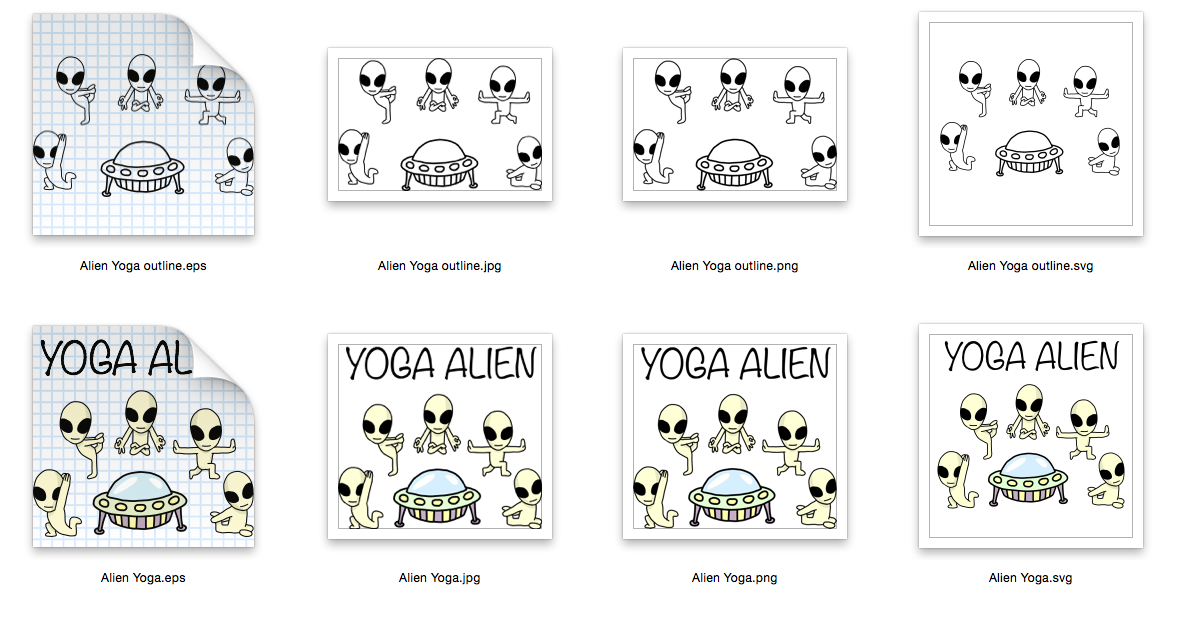Impala Yoga 4 designs - Outline and Colored SVG-EPS-JPG-PNG example image 2