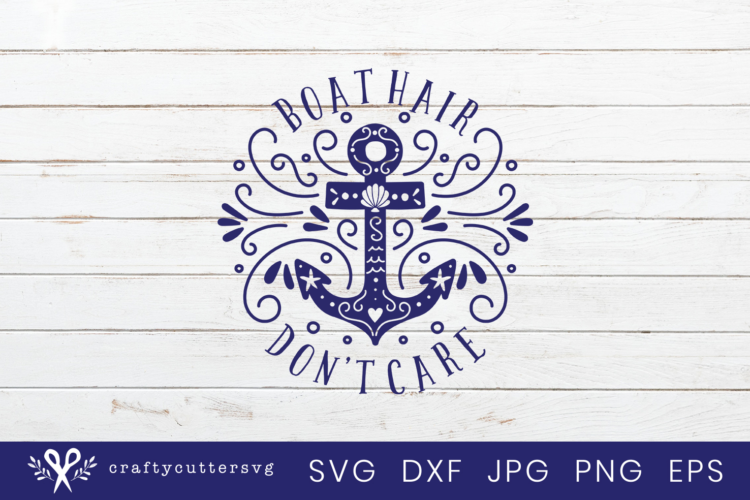 Boat hair don't care Svg Cut File Anchor Clipart example image 2