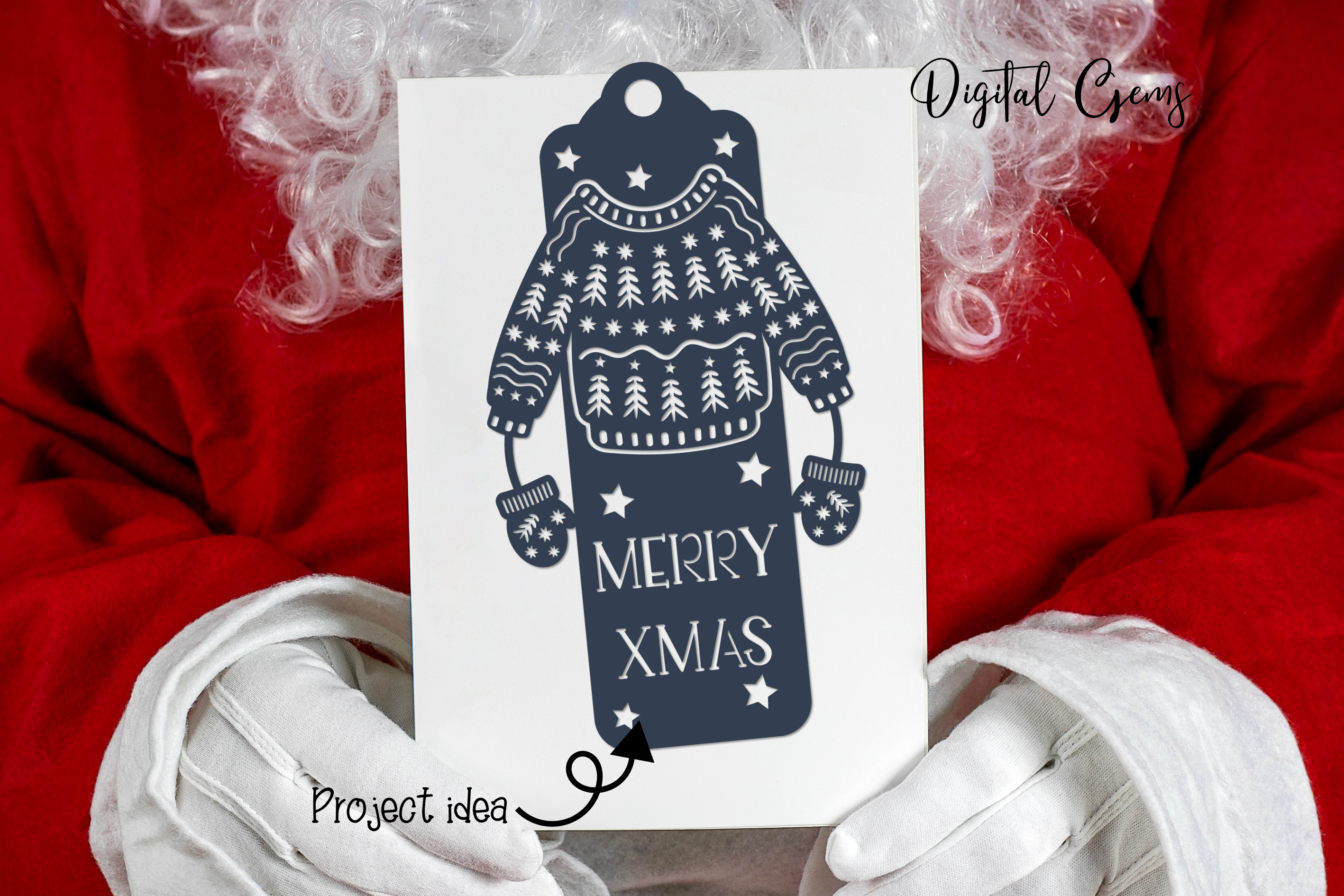 Bookmark, Christmas SVG / DXF / EPS / PNG Files example image 3