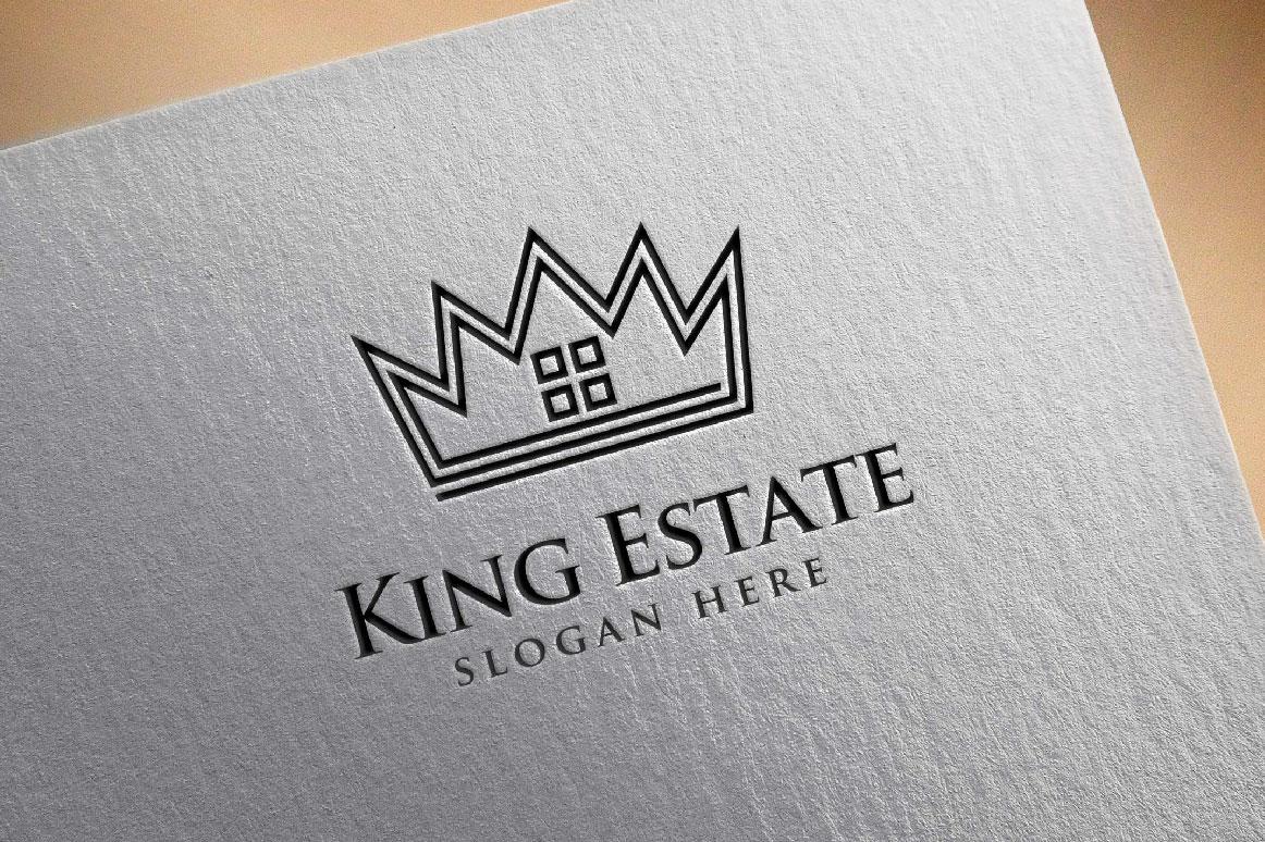 Real Estate Logo, King Estate Logo example image 5