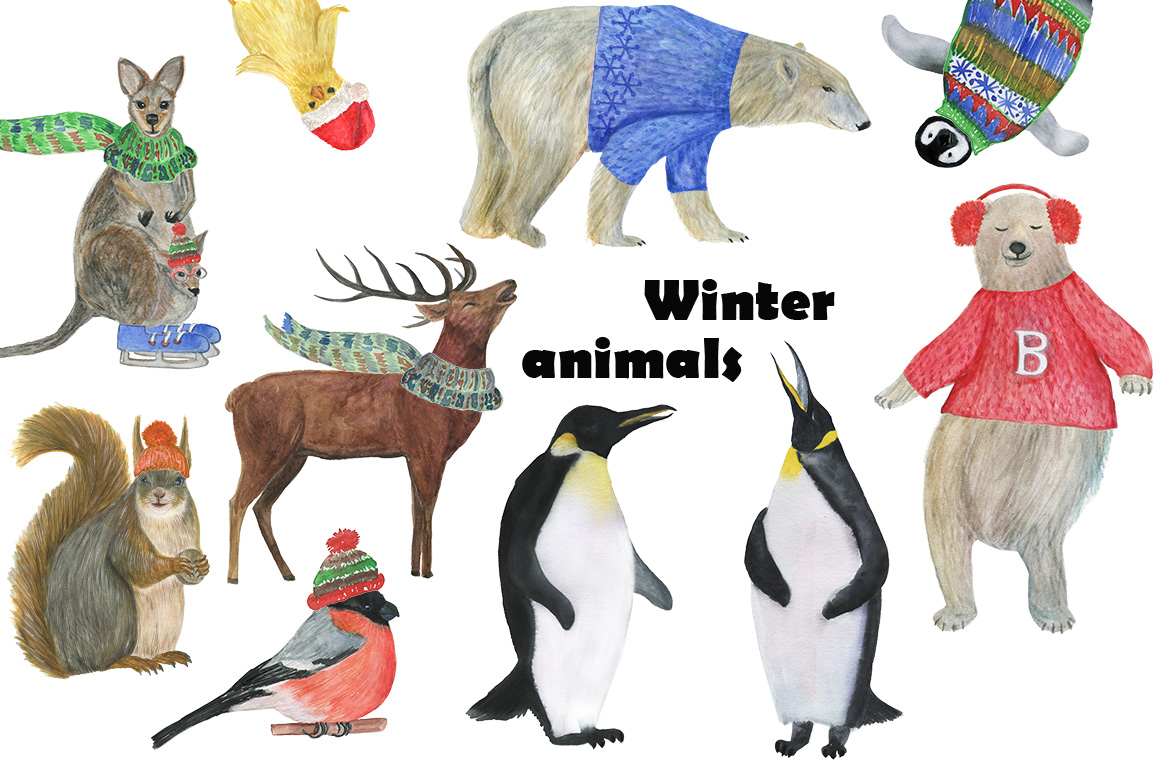 Winter animals example image 1