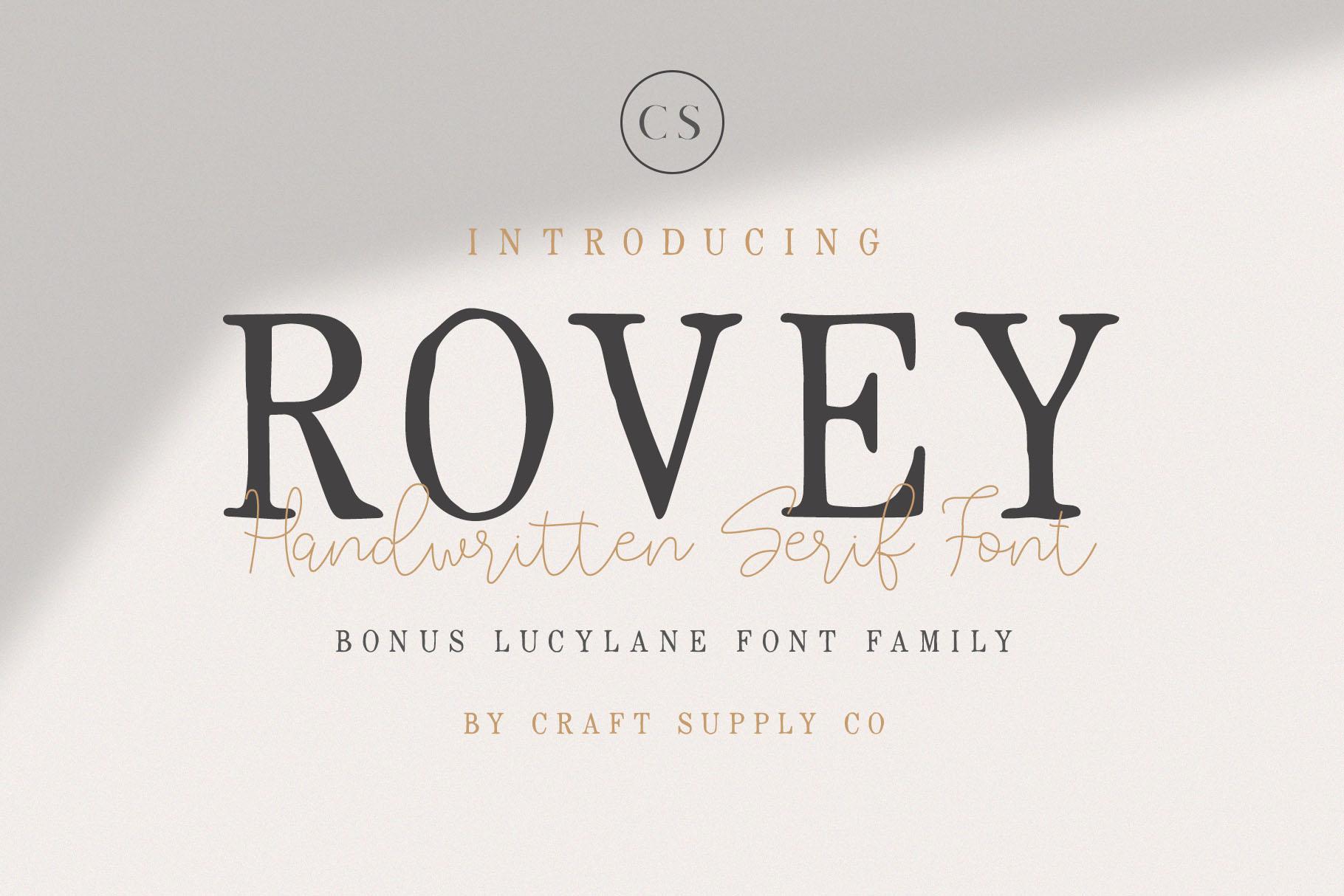 Rovey - Handwritten Serif Font with Bonus example image 1