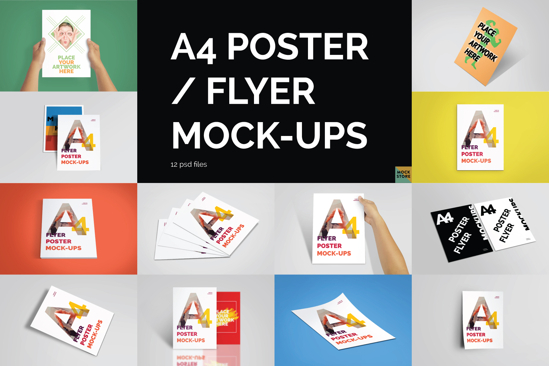 A4 Flyer / Poster Mockups example image 1