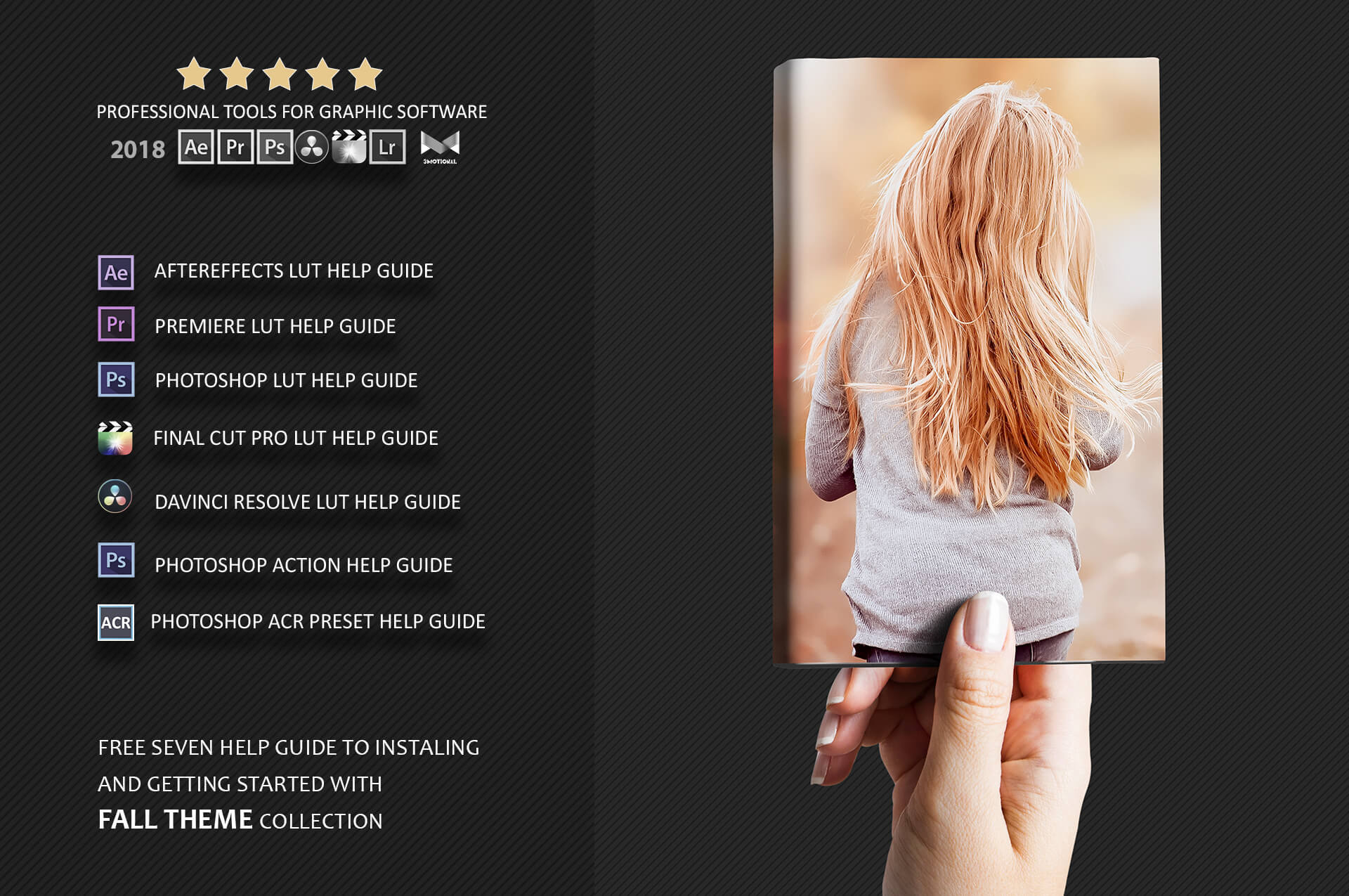 150 Fall Theme Color Grading Premium Photoshop action example image 3