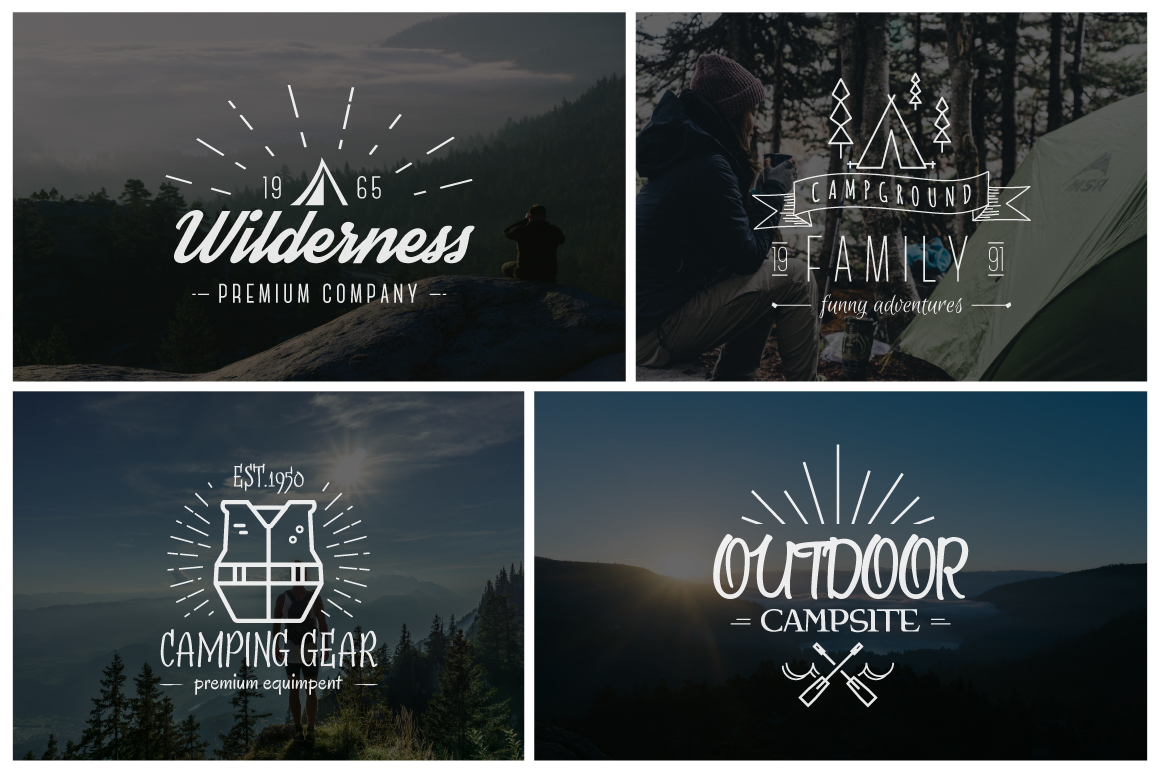 70% OFF Adventure Graphics Pack / Retro Logos Set / SVG's Collection / Icons example image 6