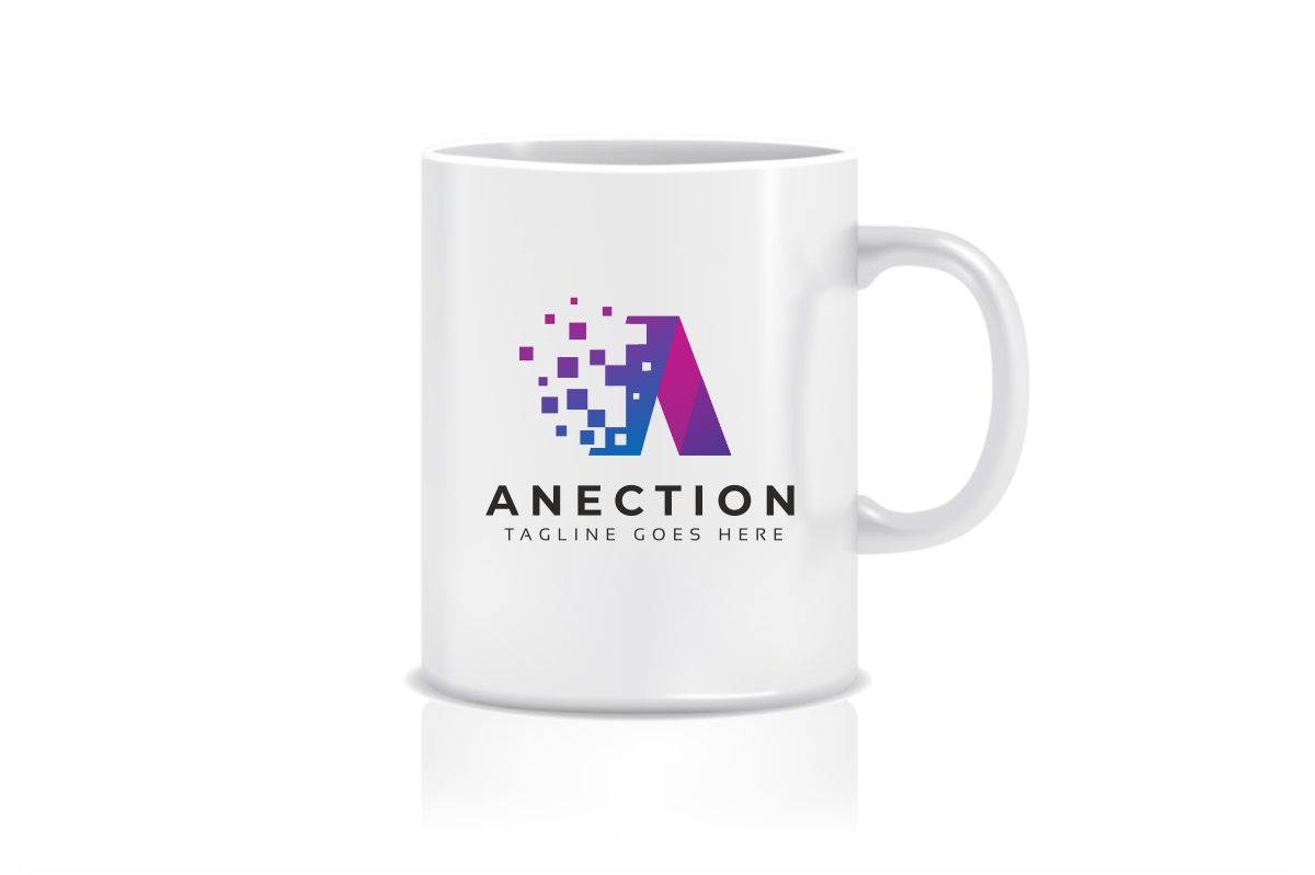 Anection A Letter Logo example image 3