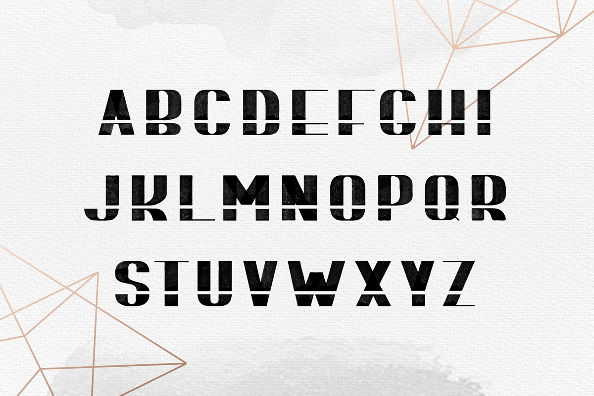 BOMOND. Textured Ink Font example image 7