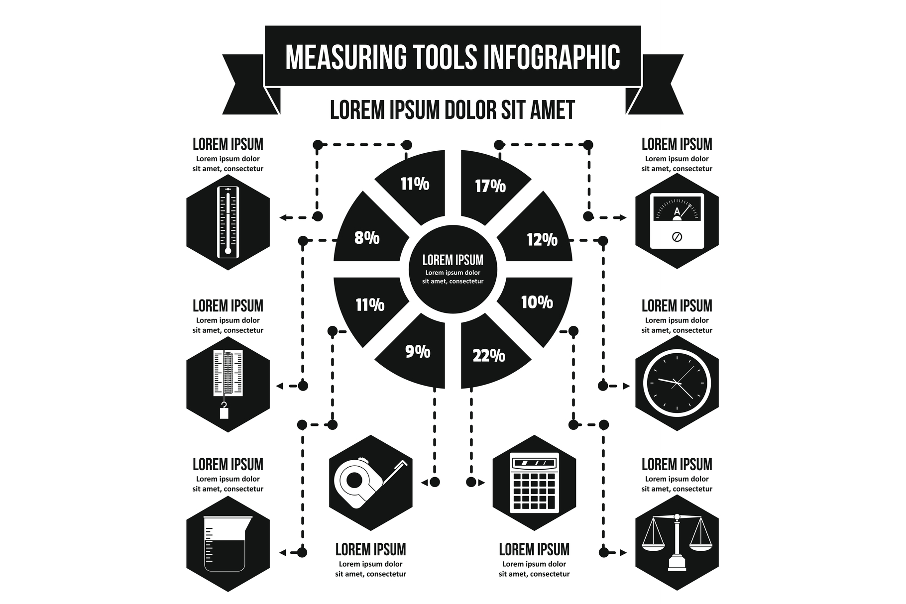 Measuring tools infographic concept, simple style example image 1