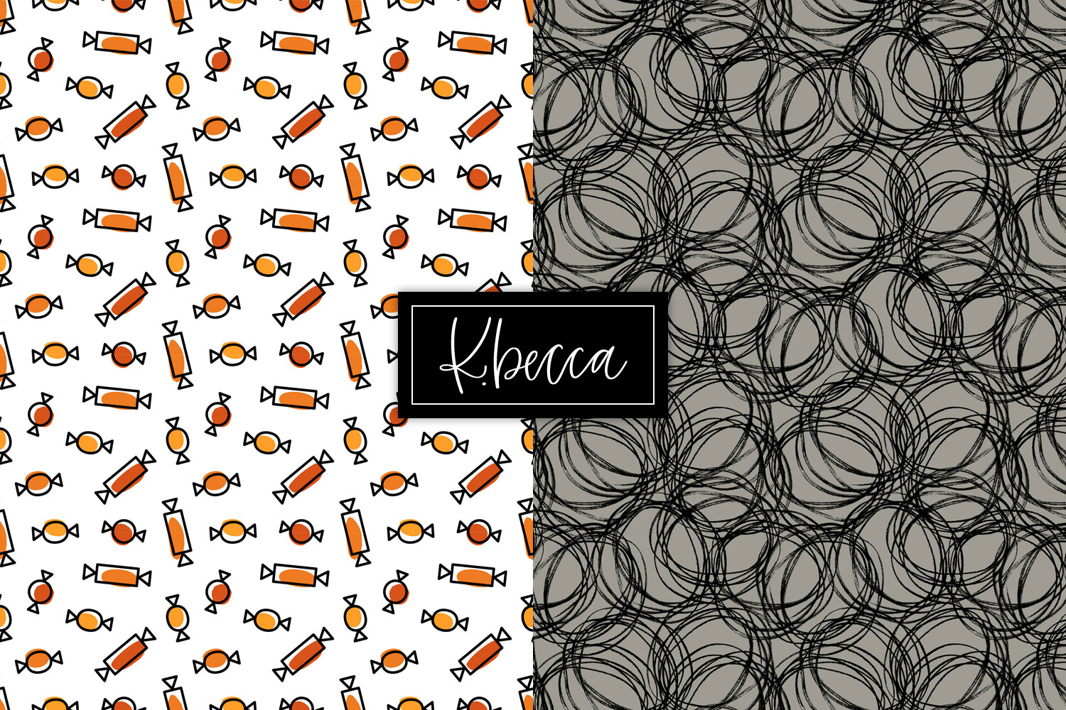 Spooky Halloween Background Patterns Seamless example image 5