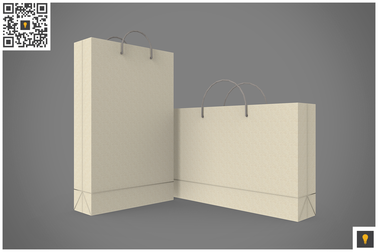 Shopping Bag 3D Render example image 7