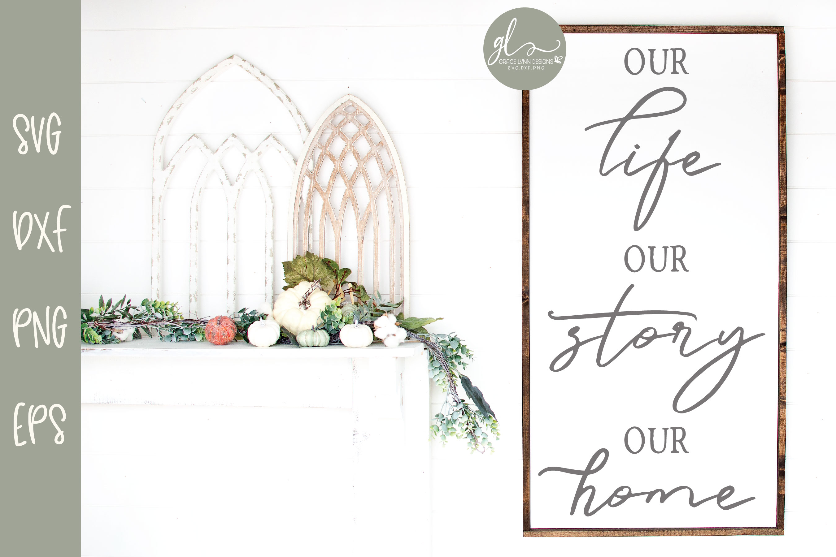 Our Life Our Story Our Home - SVG example image 1