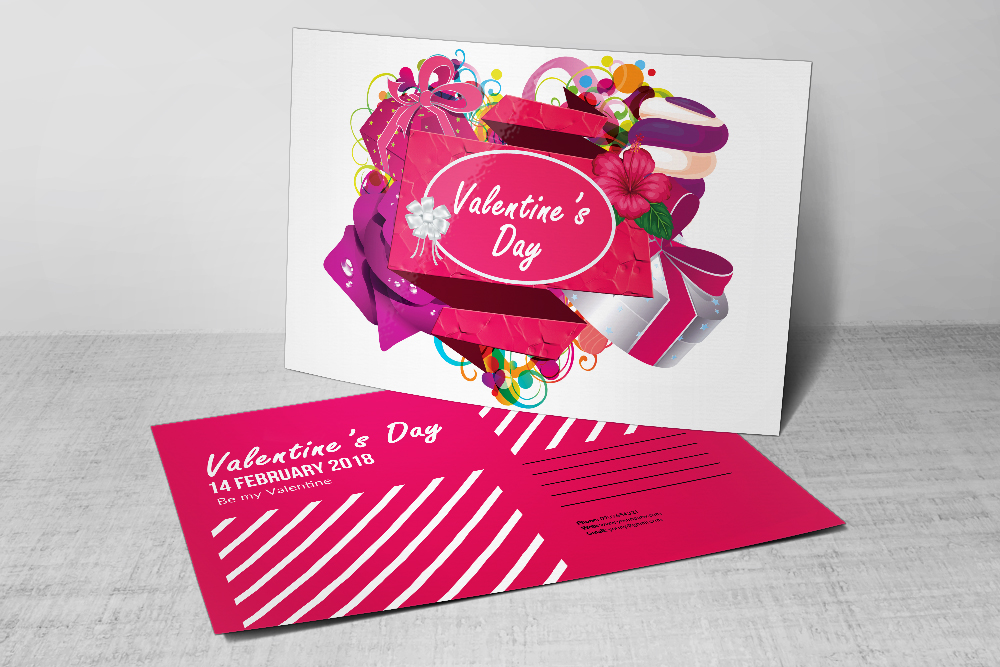 Valentine's Day Postcards PSD example image 1