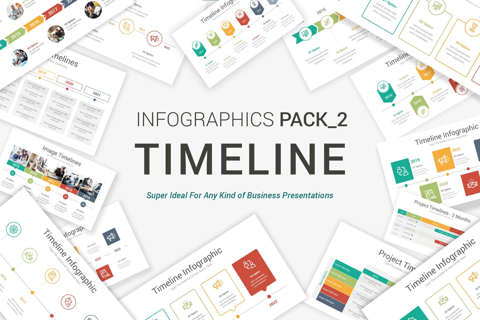Keynote Timeline Infographics Pack-2 example image 1