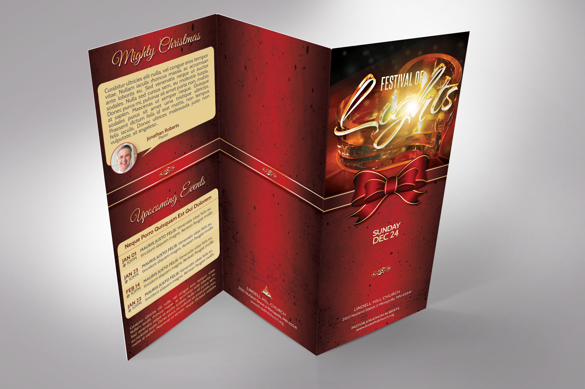 Candle Light Tri-fold Brochure example image 5