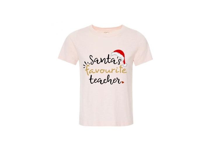 Santa Teacher Svg, Santa's Favourite Teacher Svg,Teacher Svg example image 2