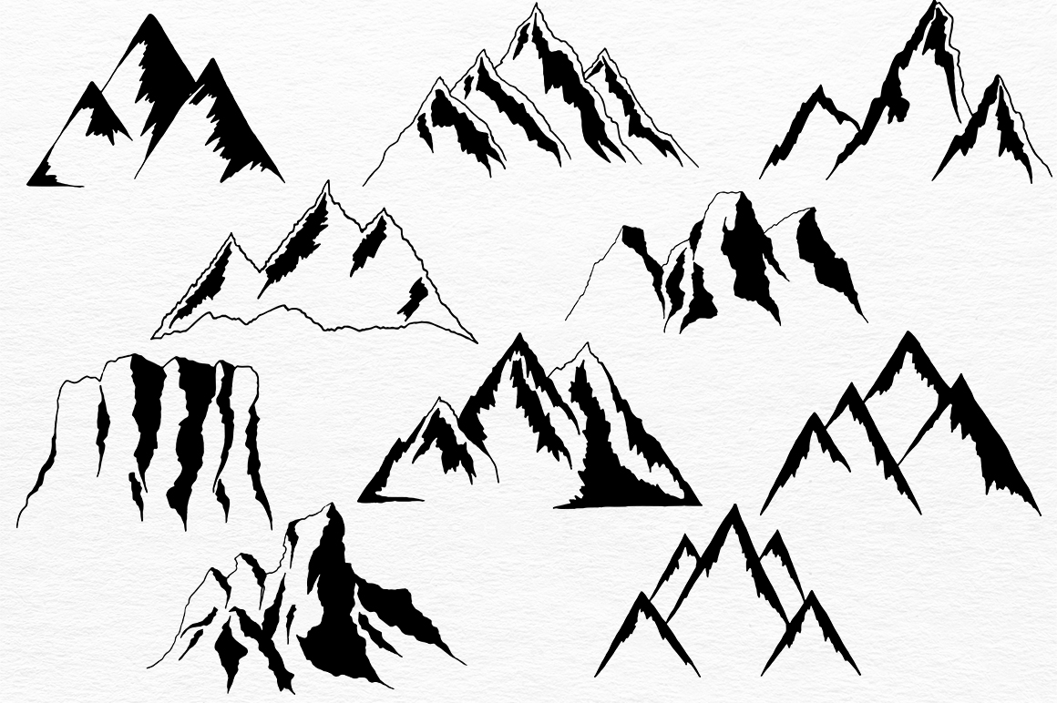 Mountains HandDrawn Vector example image 3
