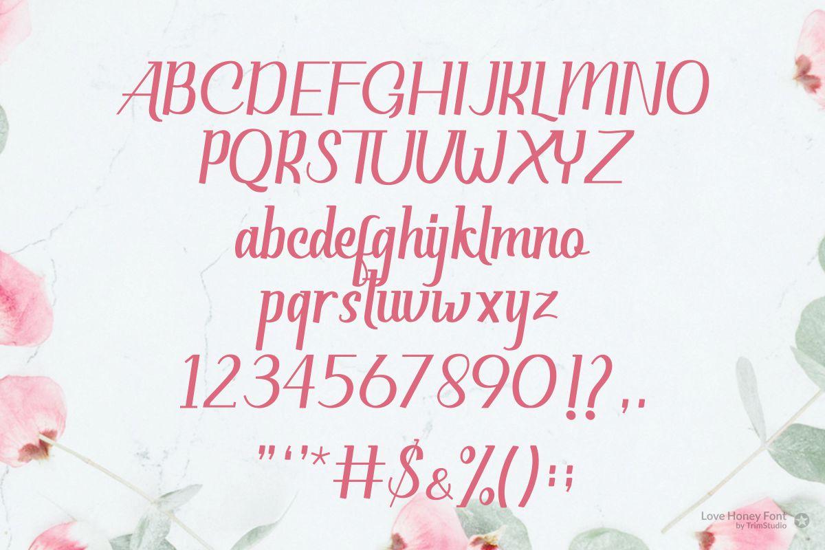 Love Honey - Modern Script Font example image 6