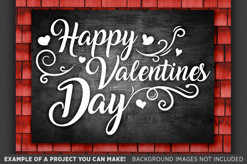 Happy Valentines Day Sign SVG - Valentines Day SVG - 1509 example image 2
