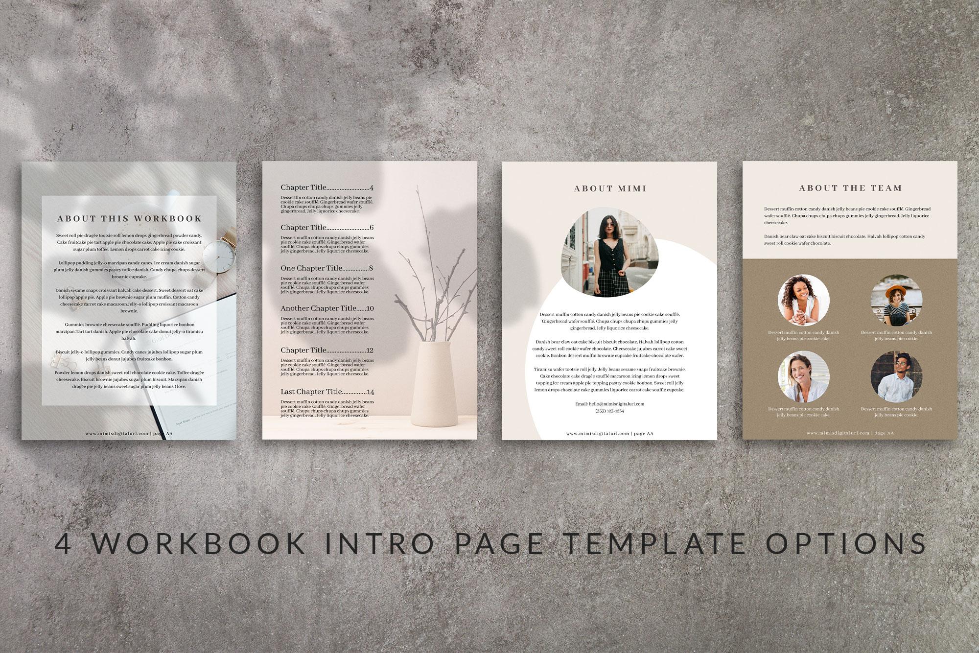 Workbook Canva Template | Mink example image 6