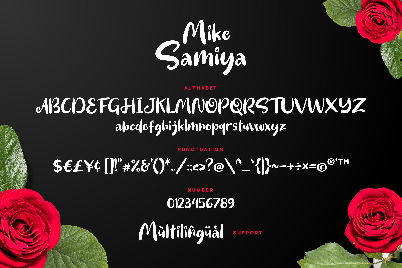 Mike Samiya Font example image 6
