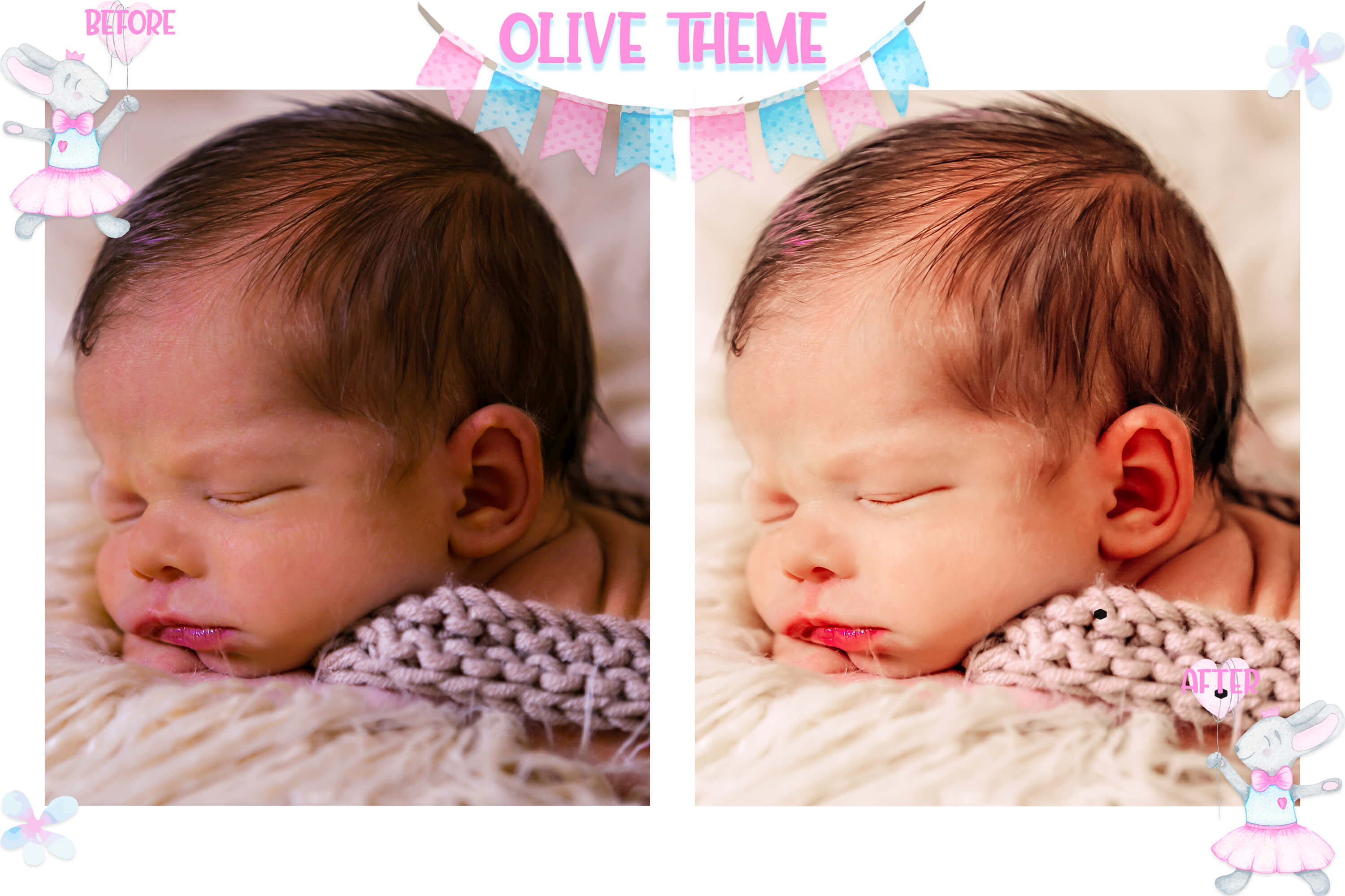 10 Newborn Mobile & Desktop Lightroom Presets, baby skin LR example image 7