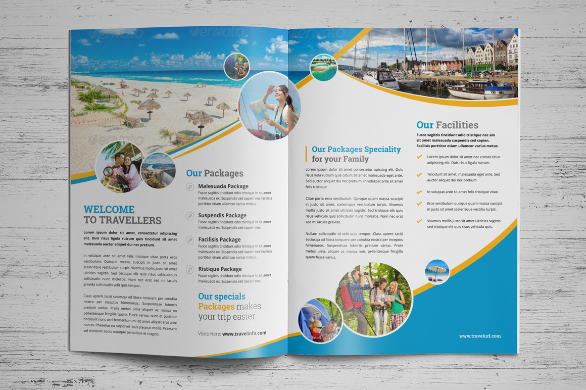 Holiday Travel Bifold & Trifold Brochure v2 example image 3