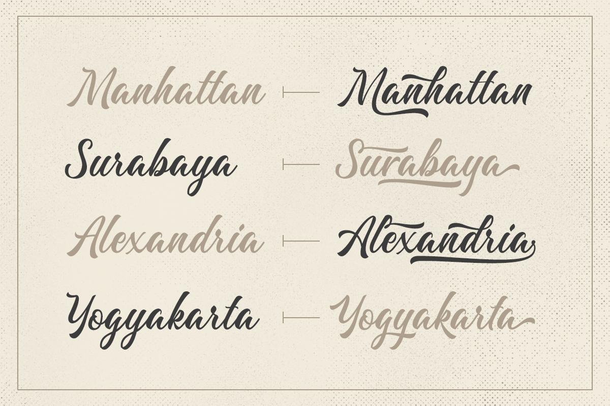 Majestika - Clean Brush Script example image 4