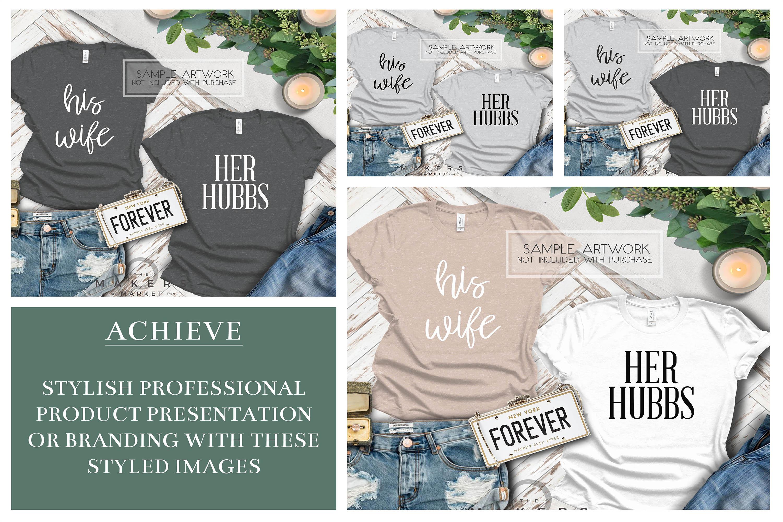 Adult T-Shirt/ T-Shirt Mock-up, Bella Canvas T-Shirts/ example image 2