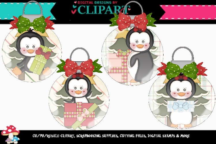 Christmas Penguin Ornaments 2 example image 1