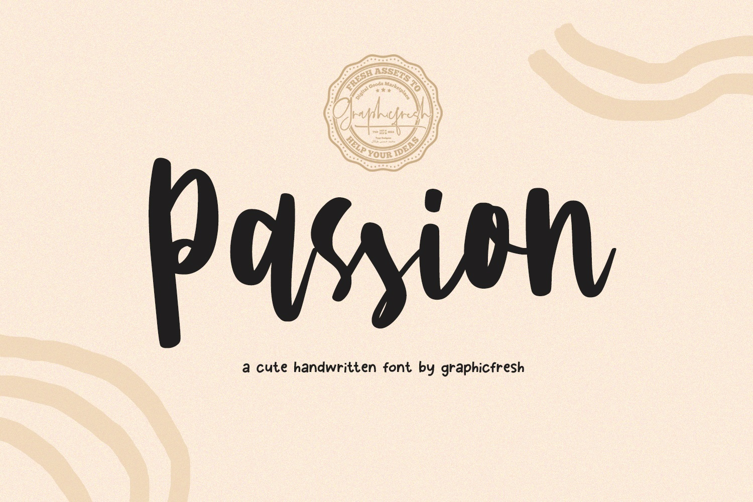 Passion - A Cute Handwritting Font example image 1