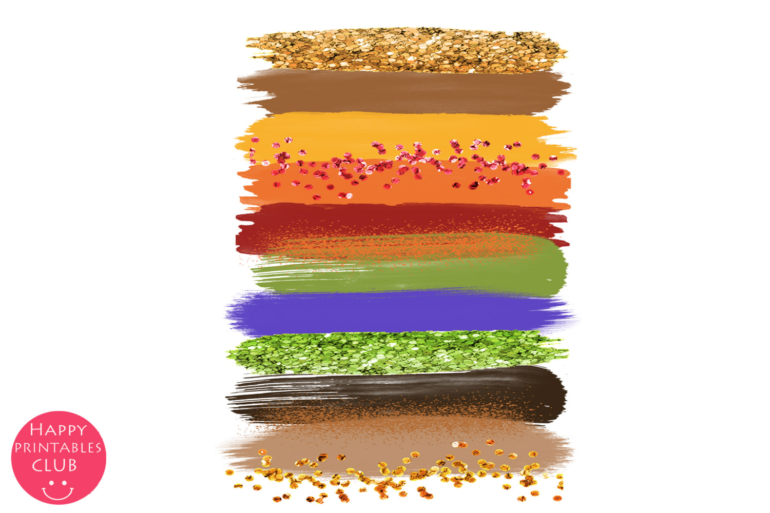 Thanksgiving Brush Strokes Clipart- Brush Strokes Clipart example image 4