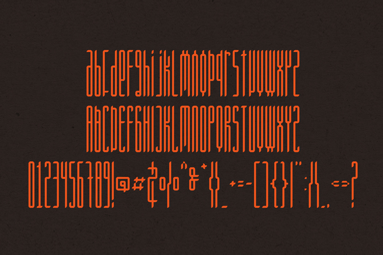 Longinus Typeface with two variations example image 7